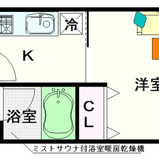 【グランシス難波南】5号タイプ!1Kタイプ!高級なシングル部屋☆