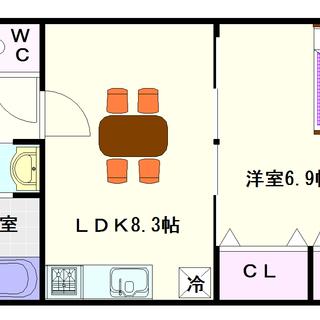 【サザンパークス】3号タイプ!1LDKタイプ!結構人気の高い物件...