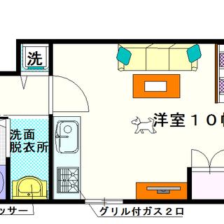 【グランデール】5号タイプ!1Rタイプ!契約金がなんと千円台!!