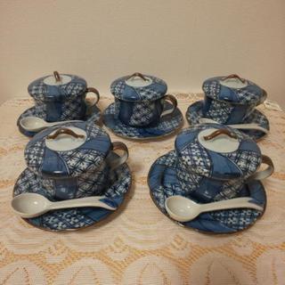 お取り置き中です。訳あり 茶碗蒸し茶碗5客セット 綺麗です👌