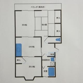 3DK入居者募集中(高台です・来客者用駐車場もあります)家賃を少し...