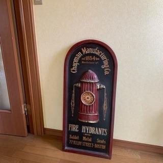 アンティーク 消防 消火栓デザイン 壁立て掛け時計