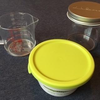 【全3品】便利調理セット[電子レンジ調理器&計量カップ&プラ容器]