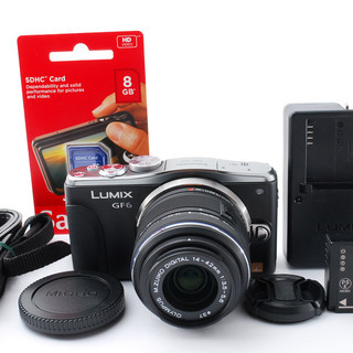 Panasonic Lumix DMC-GF6W ブラック レン...