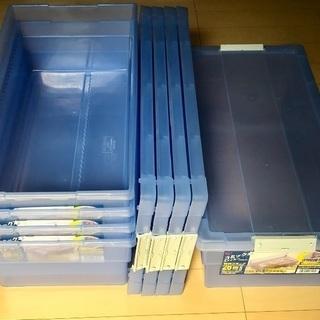コミック本ストッカー(青×5個)