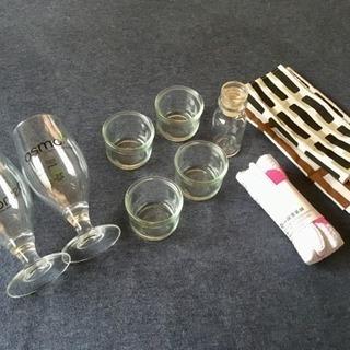 【全9品】ガラス容器とワッフル布巾&敷物セット