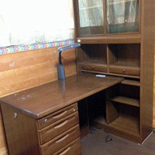 本棚付き学習机