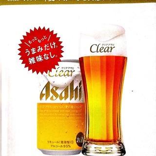 クリアアサヒオリジナル「麦のおいしさ実感グラス」2個セット