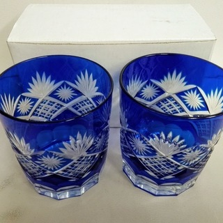 ¥1000*切子グラス未使用 長期保管品