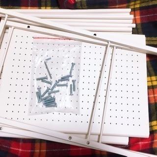 本棚 物置き 3段ドウシシャ キッチンラックワゴン - 家具
