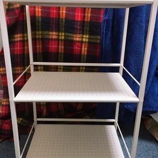 本棚 物置き 3段ドウシシャ キッチンラックワゴンの画像