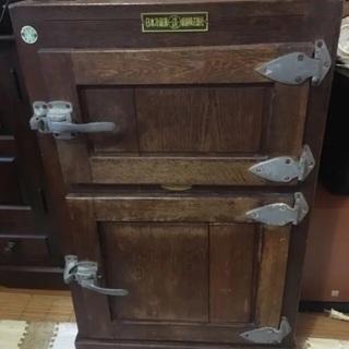 昭和レトロな木製の冷蔵庫 ★引取り限定