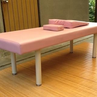 高田ベッド製のマッサージベッド(無孔)、可愛いピンク色  胸マクラ...