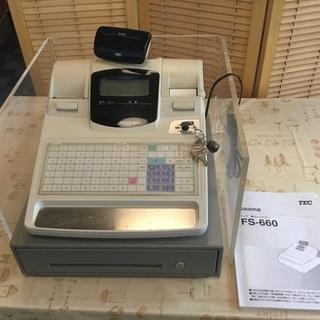 電子レジスター(tec FSー660)中古品