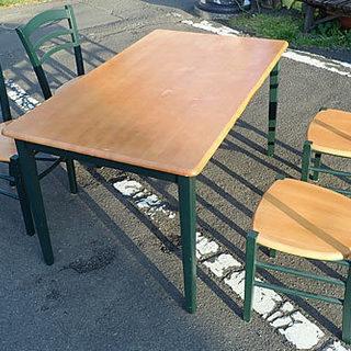 札幌市 食卓テーブル 4人用 椅子4個 セット ダイニングセット...