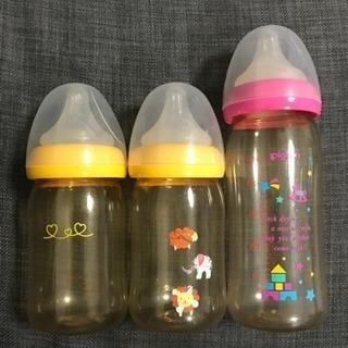 【取引中】Pigeon 哺乳瓶3本