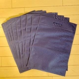 新品の不織布バッグ 紺色 10枚