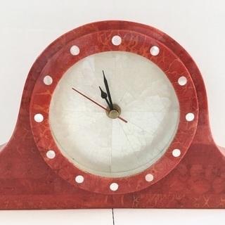 置き時計 白蝶貝