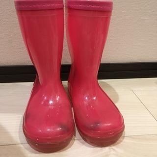 ピンクの長靴 18センチ