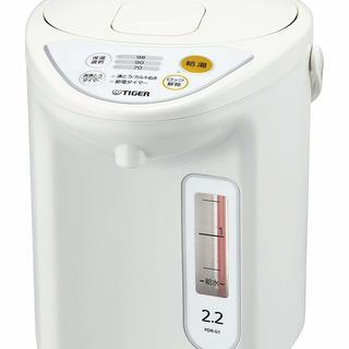 新品 タイガー 魔法瓶 マイコン 電気 ポット 2.2L ホワイ...