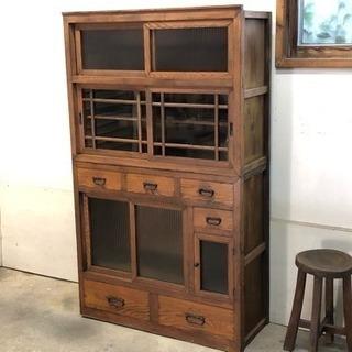アンティーク 水屋箪笥 食器棚