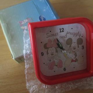 未使用 卓上アラームクロック 時計  ディズニー ミッキー ミニー