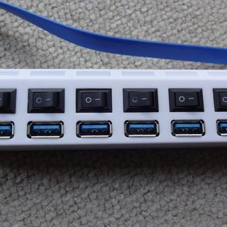 USBハブ7ポート USB3.0 ほぼ新品の画像