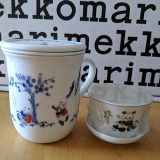 🐼パンダ茶器 茶こし付きマグカップと茶器 2セット 新品