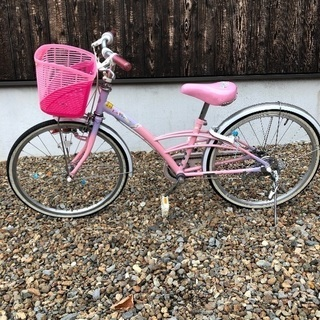 引き取り限定ブリヂストン 自転車 女の子 22インチ