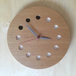 【中古】旭川のクラフト工房 cosine(コサイン)掛け時計