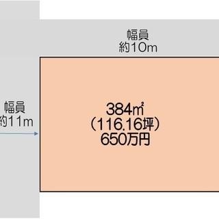 熊谷市上恩田国道沿いの角地です。116坪650万円