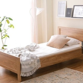 ベッドフレーム 木目調 シングルサイズ 幅107×奥行203cm