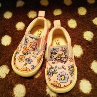 14cmピンクの花柄靴🌸少し小さめ💦