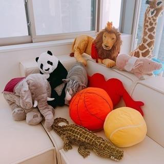 IKEAで大人気のぬいぐるみセットですぞうライオン