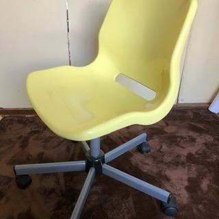 IKEA デスクチェア 椅子 黄色 イエロー