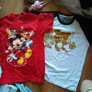 キャラクターTシャツ、ディズニー、リラックス、ミニーちゃん