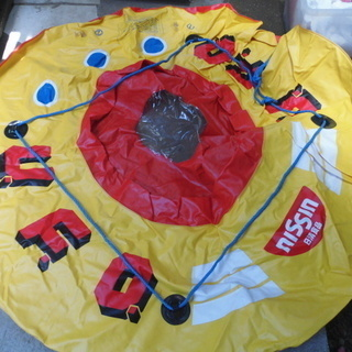 大きな丸型の浮き輪「運搬用の袋付き」外形約1300