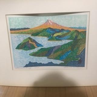 ▶︎ 版画    絵画     富士山   三津長浜 ◀︎
