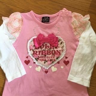 子供服 ピンクと白 95cm