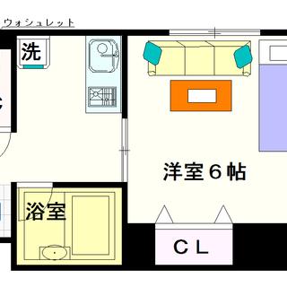 【プランドールキンエー難波】3号タイプ!1Kタイプ!使いやすいセパ...