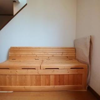 木製ベンチストッカー
