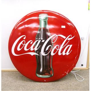 札幌 訳アリ特価【CocaCola 看板】直径24cm 円形 ア...