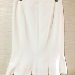 INDIVI ホワイトフレアスカート 38