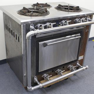マルゼン オーブン付き 3口ガスレンジ MGR-096 LPガス...