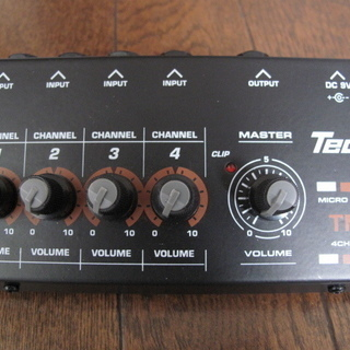 Tech TM-4 4chミキサー2度使っただけ 美品だと思います。