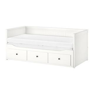 IKEA HEMNES ヘムネス デイベッドフレーム(引き出し×3...
