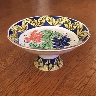 フルーツ盛り皿 コンポート 陶器 手描き