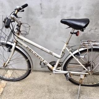 ジャンク品 PEUGEOT プジョーのマウンテンバイク 自転車