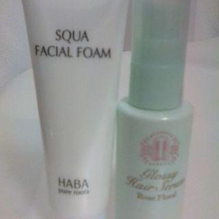 HABA 洗顔フォーム& 髪用美容液