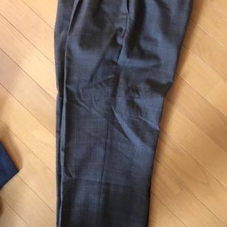 スーツ パンツ グレー